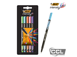 Caneta Bic intensity point ultra fina 0.4mm com 5 cores