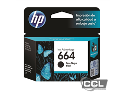 Cartucho HP 664 F6V29AB preto original