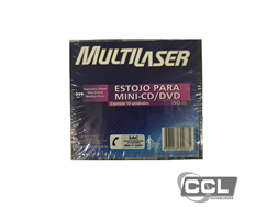 Estojo para mini-cd/dvd Multilaser
