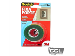Fita dupla face 24mm x 2m transparente Scotch